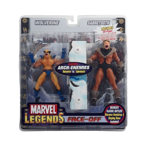 Marvel Legends Face Off Series 2 Action Figure Twin Pack Wolverine ...