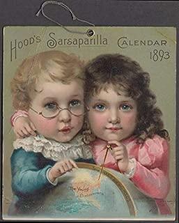Hood's Sarsaparilla 1893 Calendar hanger topper The Young Discoverers