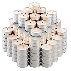 200 White, Smokeless, Dripless & Long Lasting Paraffin Tea Candles