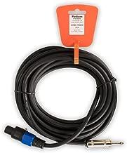 Podium Pro TSSP25 25' Pro Audio Speaker Cable 12 Gauge Male Speakon Jack to Male 1/4 Inch Jack