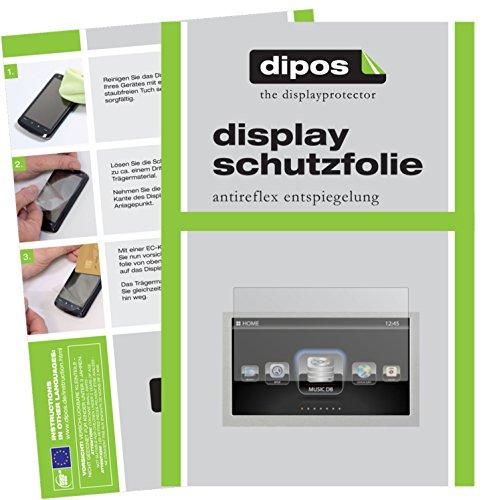 dipos I 2X Schutzfolie matt kompatibel mit Cocktail Audio X50 Folie Displayschutzfolie