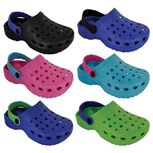 Palgrave - Zuecos de Surf para niños y niñas, Tallas 4 – 2 Sandalias de Playa, Zapatos de jardín, mulos de Ducha, Color Azul, Talla 22 EU