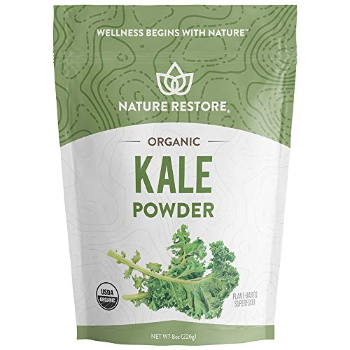 Nature Restore USDA Certified Organic Kale Powder, Non-GMO (8 Ounces), Perfect for Shakes, Greens Superfood Blends