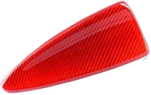 Car Shark Fin Antenna Carbon Fiber Car Accessories Shark Fin Antenna Cover,Fit for BMW E60 520I 523I 525I 530I 2003-2010 / E61 2003-2008 Red