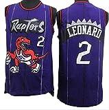 XIAOHAI Hombres Camisetas de la NBA,Raptors # 2 Kawhi Leonard Transpirable Resistente al Desgaste Malla Bordado Baloncesto del Swingman de los Jerseys,XXL