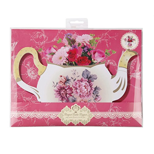 Talking Tables Tea Party Floral Vintage Teapot Vase Decoration | Truly Scrumptious | Great For Birthday Party, Baby Shower, Wedding And Anniversary | Paper