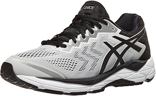 ASICS Men's Gel-Fortitude 8 Running Shoes, 9.5M, Glacier Grey/Black