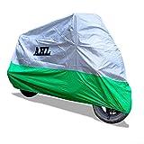 AHL Motocicletta Telo Coprimoto Impermeabile Antipolvere Anti UV Traspirante per Esterni Durante Tutto l'anno (Verde L)