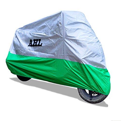 AHL Motocicletta Telo Coprimoto Impermeabile Antipolvere Anti UV Traspirante per Esterni Durante Tutto l'anno (Verde 2XL)