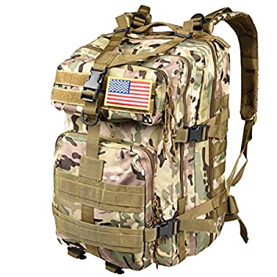 CVLIFE Military Tactical Backpack 40L Army Rucksack 8 Day Assault Pack Molle Bag …