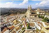N/W Puzzle Jigsaw Rompecabezas 1000 Piezas - Parroquia De Nuestra Señora De La Encarnación Olvera Provincia De Cádiz Andalucía España - para Niños Adultos Mayores De 14 Años