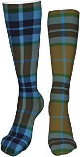 Lawenp Calze al ginocchio, Thomson Mactavish Calze lunghe da caccia in tartan Calze cosplay Calze invernali a maglia spess...