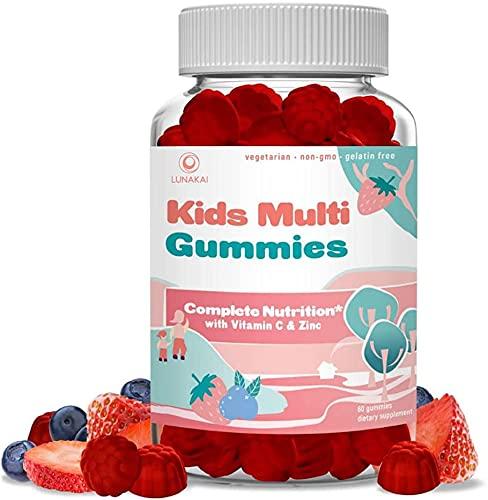 Organic Kids Multivitamin Gummies - Children's and Toddler Chewable Gummy Multivitamins - Vegan Ingredients Kids Vitamins for Children - 30 Day Supply