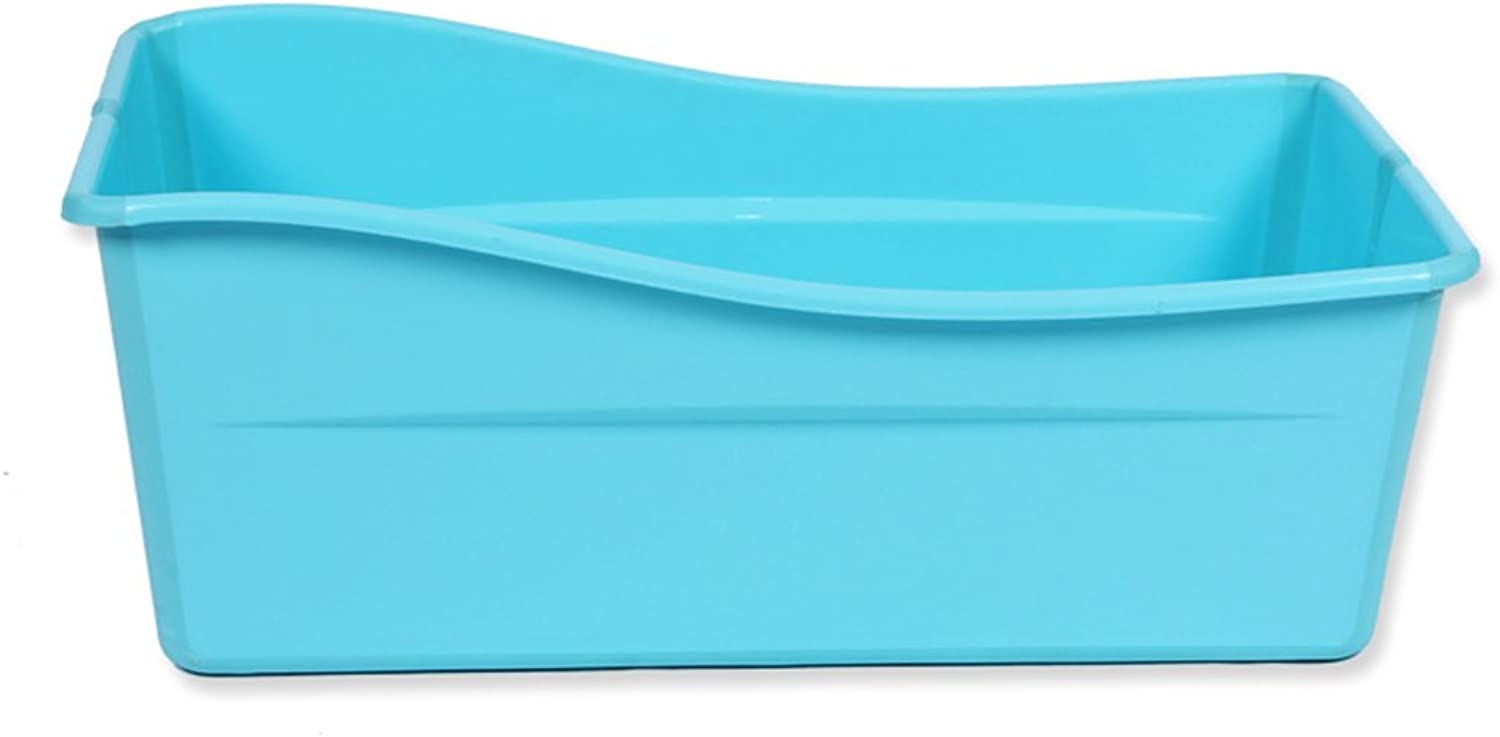 AJZGF The baby is foldable to sit in a non-slip bathtub Bathtub ( color   bluee )