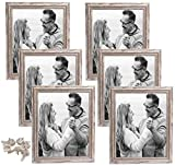 heyesupio Photo Picture Frames 10x8 Wooden Photo Frames for Wall Desktop, Pack of 6