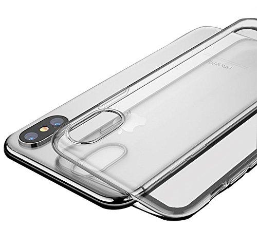 AIUIN 1 x Ultra-Slim Transparant Thermoplastisch Polyurethaan (TPU) Hoesje voor iPhone X