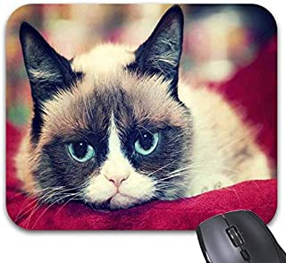Grumpy Cat Face Pattern Mouse Pads - Stylish Office Accessories (9.84 x 7.87in)