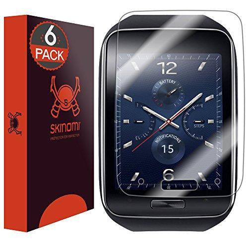 Skinomi TechSkin Schutzfolie für Samsung Gear S (deckt den kompletten Bildschirm) (6er Pack)