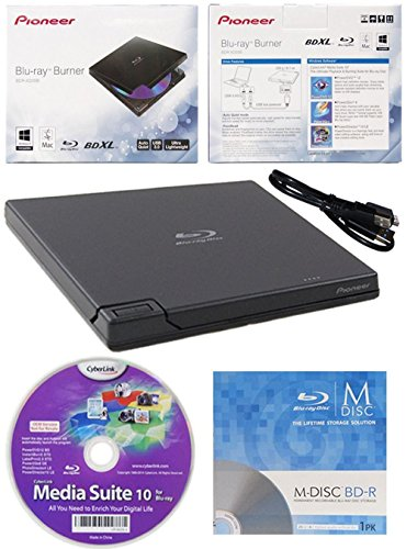 Pioneer BDR-XD05 6x Slim USB 3.0 portatile BD/DVD/CD...
