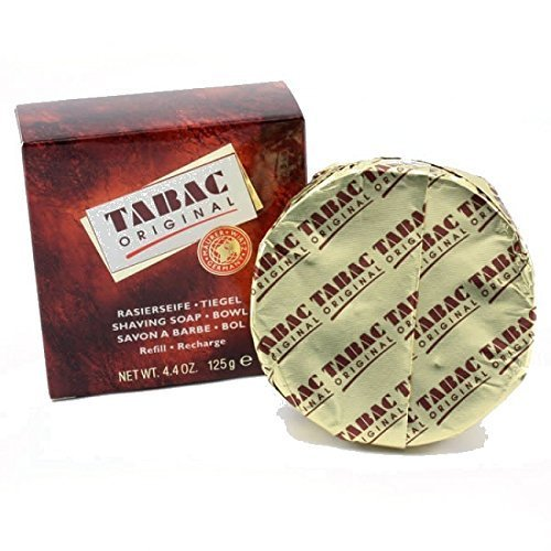 Tabac Shaving Soap Bowl Refill 125g 4.4oz Pack of 3 by Tabac