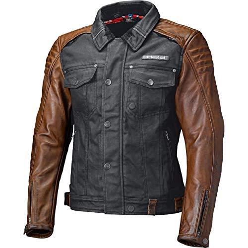 Held Motorradjacke mit Protektoren Motorrad Jacke Jester Urban Jacke schwarz/braun L, Herren, Chopper/Cruiser, Sommer, Leder/Textil