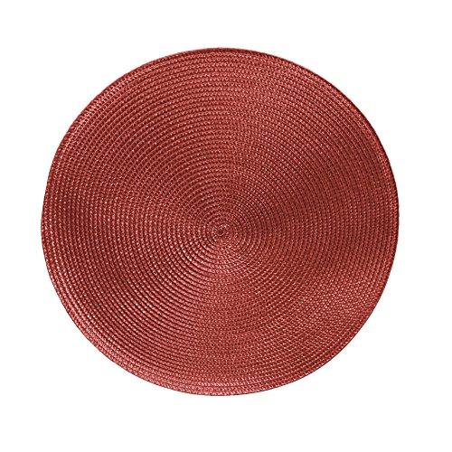 Tischsets Platzsets MARRAKESCH RUND im 4er-Set, Ø 38 cm, abwischbar, Terracotta rot