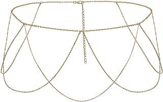 Prettyia Fashion Tassel Waist Belly Chain, Body Chain Belt Jewelry for Dancer Indian Belly Chains - Party Wedding Summer Beach Accessories