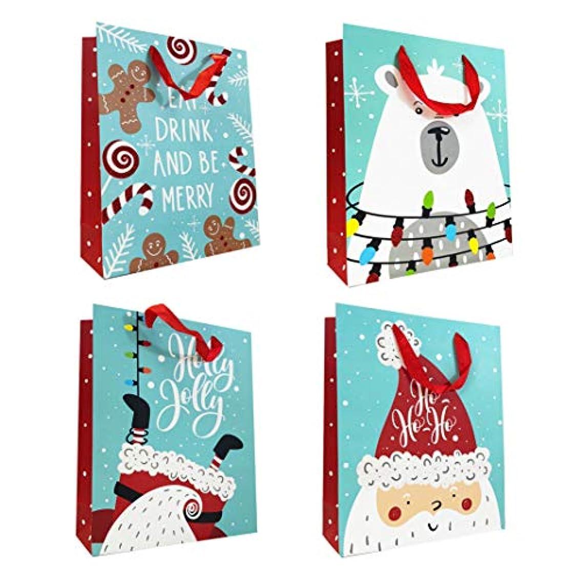 Allgala 12-Pack Christmas Gift Bags, 16