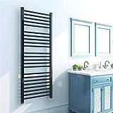 Radiadores de baño Calentador de toallas, Toallero con calefacción, Toalla eléctrica Toalla Cálculo Montado en la pared Baño Ahorro de energía Calentador de Toalla Accesorios de baño, negro mate