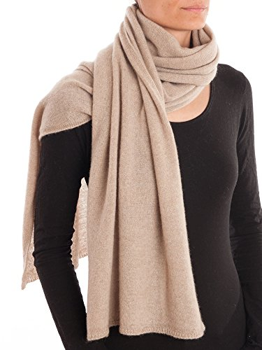 DALLE PIANE CASHMERE - Schal aus 100% Kaschmir - für Mann/Frau, Farbe: Beige, Einheitsgröße