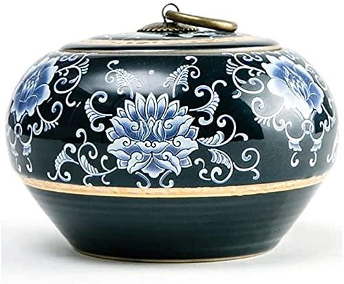 SLZFLSSHPK urne Urnen für die Asche Einäscherung Urnen für die menschliche Asche Erwachsene Kinder Haustier Gedenken Mini Begräbnis Urnen zu Hause Keramik Gute Versiegelung