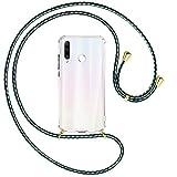 mtb more energy® Collar Smartphone para Huawei P30 Lite / P30 Lite New Edition (6.15'') - marítimo/Oro - Funda Protectora ponible - Carcasa Anti Shock con Cuerda