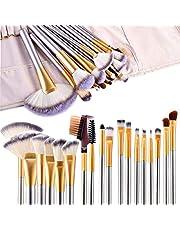 Makeup Brushes, FineSource 18pcs Makeup Brush Set Professional Make Up Brushes Powder Cream Liquid Foundation Eyeshadow Eyeliner Lip Concealer Beauty Brushes with Travel make up Bag