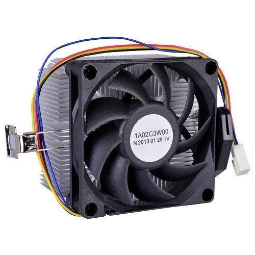 AMD Socket FM1/AM3+/AM3/AM2+/AM2/1207/940/939/754 Conector de 4 pines Refrigerador de CPU con disipador de calor de aluminio y ventilador de 2.7 pulgadas para PC de escritorio