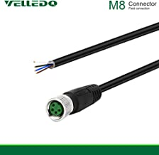 VELLEDQ Field Assembly M8 4-Pin A Coding Industrial Sensor Connector Cable Cord