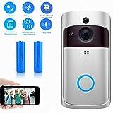 Evieun,campanello senza fili,wireless video doorbell,720P HD WiFi Videocitofono,Audio...
