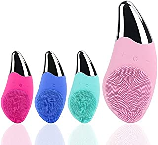EK Mini Electric Facial Cleansing Brush Silicone Sonic Face Cleaner Deep Pore Cleaning Skin Massager Face Cleansing Skin C...