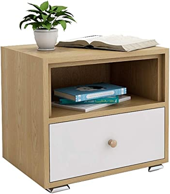 JIADUOBAO-S Night Stand Wood End Tables with Drawer Cabinet for Bedroom Table Furniture,Sofa Bed Beside Night Table Stand File Cabinet Living Room Side Table for Small Spaces JIADUOBAO-S