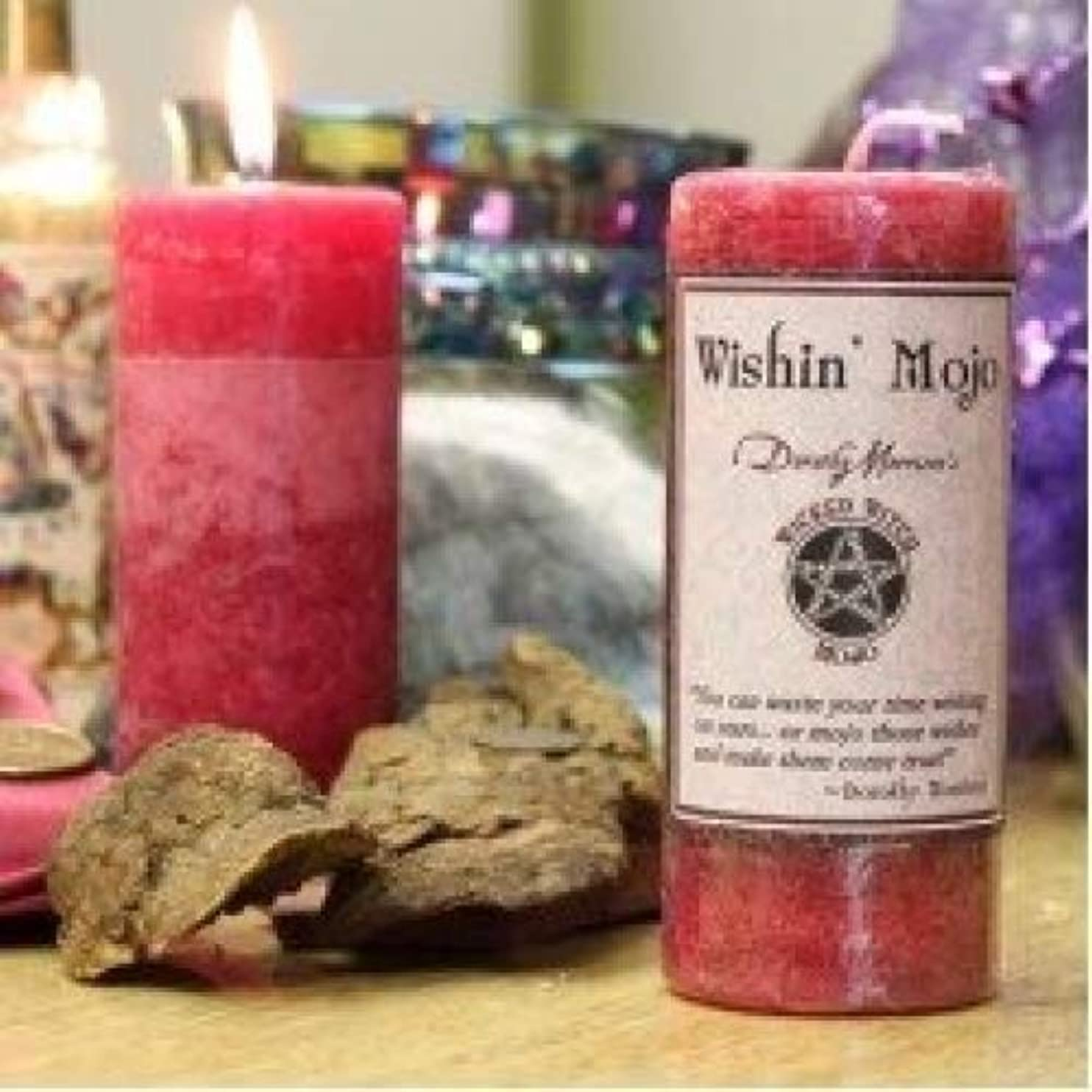 気配りのある振るロックWicked Witch Mojo Wishin Mojo Candle by Dorothy Morrison