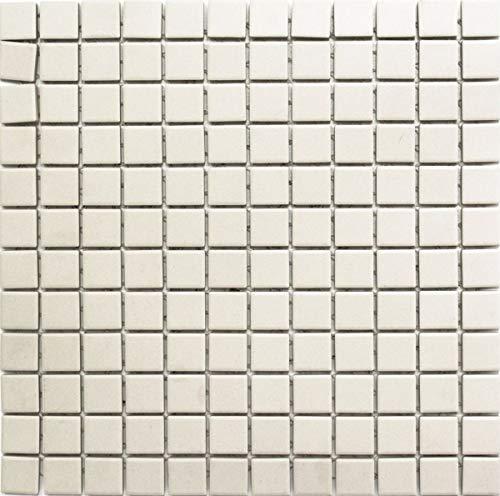 Mosaik Fliese Keramik hellbeige unglasiert Duschtasse Bodenfliese MOS18B-1211-R10