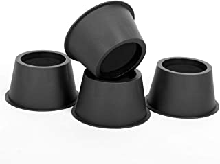 BTSD-home Round Circular Bed Risers Table Risers Furniture Risers lifts Height of 2 inch Heavy Duty Set of 4 Pieces (Black)
