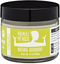 Primal Pit Paste All-Natural Deodorant - Aluminum & Paraben Free - Lemongrass Deodorant Jar