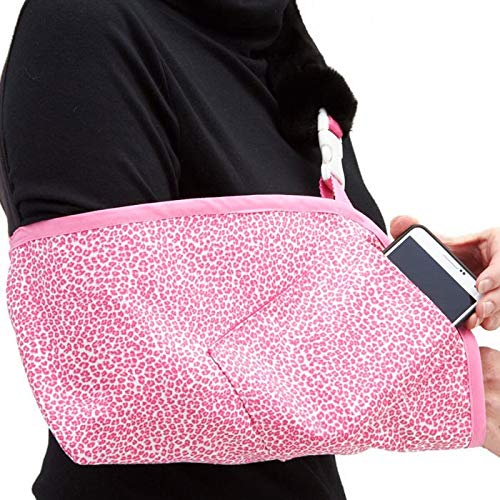 CastCoverz! Slingz! Designer Arm Sling - Color: Seeing Spots Pink - Size: Medium - Trim: Berry Pink, Interchangeable for Either Right or Left Arm, Made in USA