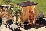 Finlandia Outdoor Sauna 6' x 8' with Starline Skylight Roof
