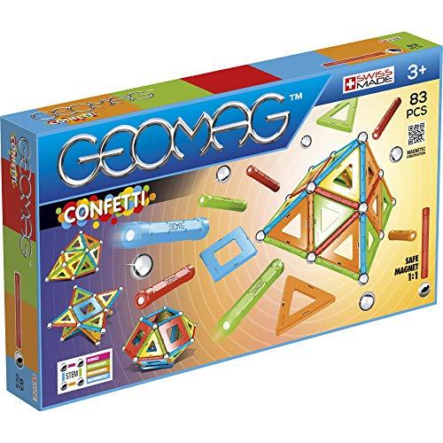 Geomag- Confetti Juego de construcción magnética, Multicolor, 83 Piezas (356)
