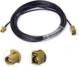 wlaniot Fakra K Female to Male Pigtail Cable RG174 16.4ft Sirius Antenna Extension Cable Truck/RV XM Satellite Radio Antenna