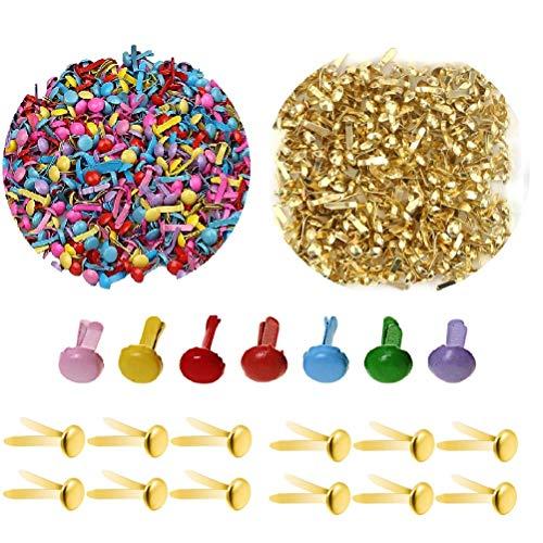 200 Stücke Mini Runde Metall Brads Musterbeutelklammern,20mm x 6mm Rund Briefklammern farbig,Rund Briefklammern farbig,brads für scrapbooking