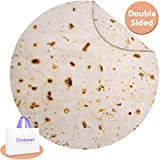 Jorbest Burritos Tortilla Blanket 2.0 Double Sided 60 inches for Adult and Kids, 280 GSM Funny Soft...