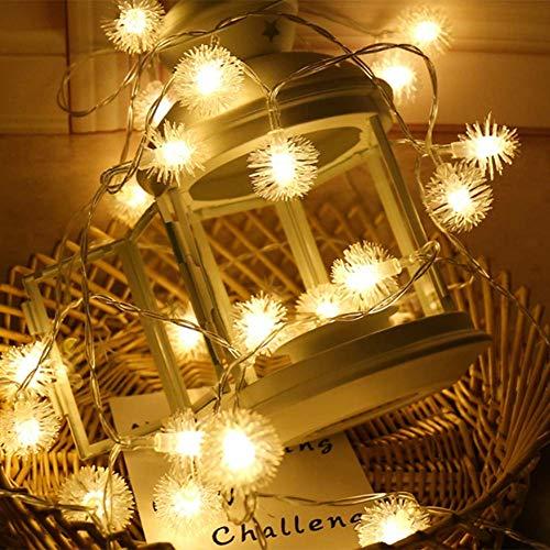 Led-buitenverlichting op zonne-energie, Kerstmis, waterdicht, binnen- en buitenverlichting met 50 lampen, tuinverlichting voor feest, porch, café, 8 modi, op zonne-energie werkende ledverlichting