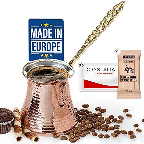 Turkish Coffee Pot, Greek Arabic Coffee Maker, Hammered Copper Coffee Cezve, Copper Pot, Stove Top Coffee Maker, Large 14.4 fl oz Capacity